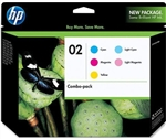 HP #02 Genuine 5-Pack Inkjet Ink Cartridge Combo CC604FN