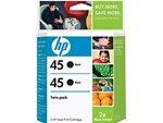 HP #45 Twin Genuine Black Ink Cartridges C6650BN