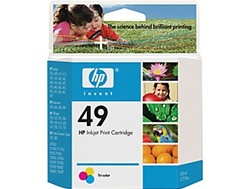 HP 49 Tri-Color Inkjet Cartridge 51649A