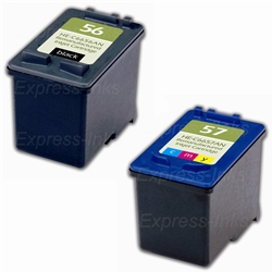 HP #56/#57 2-Pack Inkjet Ink Cartridge Combo C9321FN