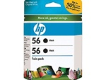 HP #56 Genuine Black Ink Cartridges C9319FN