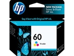 HP 60 Tri-Color Inkjet Cartridge CC643WN