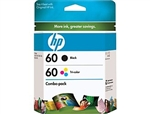 HP 60 2-Pack Black/Tri-color Inkjet Cartridges CD947FN
