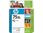 HP #75XL Genuine Tri-Color Inkjet Ink Cartridge CB338WN