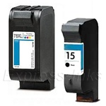 HP 15/78XL 2-Pack Black/Tricolor Ink/Inkjet Cartridges- C8789FN