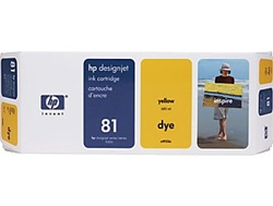 HP #81 Yellow Dye Inkjet Cartridge C4933A
