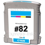 HP #82 Compatible Cyan Ink Cartridge C4911A