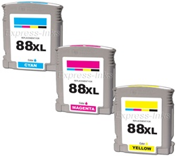 HP 88XL 3-Pack High Yield Compatible Ink Combo