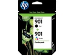 HP 901 2-Pack Genuine Ink Cartridge Combo CN069FN
