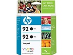 HP #92 2-Pack Black Ink Cartridges C9512BN