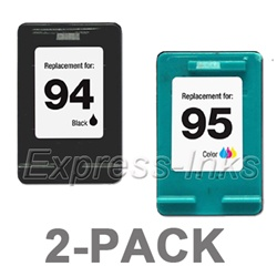 HP #94/#95 2-Pack Black/Tri-Color Ink Cartridge Combo C9354FN