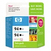 HP #94 2-Pack Black Inkjet Cartridges C9350FN