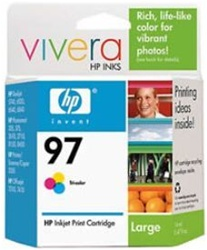HP #97 Genuine Tri-Color Inkjet Cartridge C9363WN