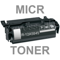 Lexmark 12A5845 High Yield MICR Toner Cartridge