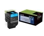 Lexmark 70C1HC0 Genuine Cyan Toner Cartridge 701HC