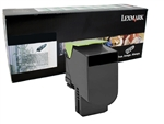Lexmark 80C10K0 Genuine Black Toner Cartridge 801K