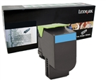 Lexmark 80C1HC0 Genuine Cyan Toner Cartridge 801HC