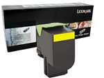 Lexmark 80C1HY0 Genuine Yellow Toner Cartridge 801HY