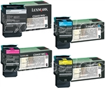 Lexmark C544X1CMYK Genuine Toner Cartridge Combo