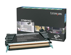 Lexmark C736H1KG Genuine Black Toner Cartridge
