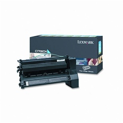 Lexmark C7700CH Genuine Cyan Toner Cartridge