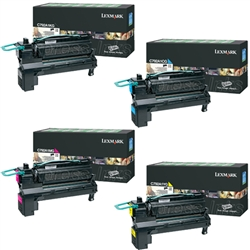 Lexmark C792DHE Genuine 4-Pack Toner Cartridge Combo