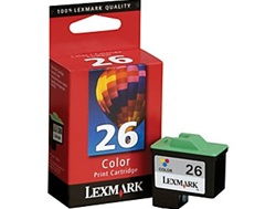Lexmark #26 Color Inkjet Ink Cartridge 10N0026