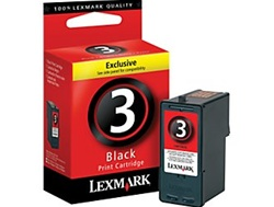 Lexmark #3 Black Inkjet Ink Cartridge 18C1530