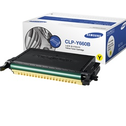 Samsung CLP-Y660B Genuine Yellow Toner Cartridge