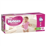 Huggies Walker Girl Nappies (13-18 kg) Bulk - 96 nappies