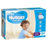 Huggies Toddler Boy Nappies (10-15 kg) Bulk - 108 nappies