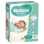 Huggies Nappies Newborn Unisex Bulk 160 nappies