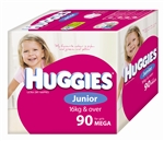 Huggies Junior Girl Nappies (16 kg & over) Bulk - 90 nappies