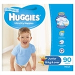 Huggies Junior Boy Nappies (16  kg & over ) Bulk - 90 nappies