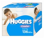 Huggies Crawler Boy Nappies (6-11kg) Bulk - 136 nappies