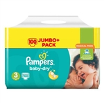 Pampers Nappies  Baby Dry 3 6-10kg 100