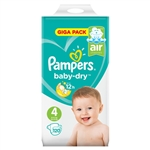 Pampers Nappies Baby Dry 4  9-14kg 120