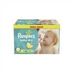 Pampers Nappies Baby Dry 4+ 9-18kg 112