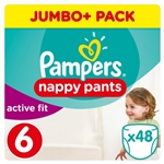 Pampers Active Fit Pull Up Pants Size 6 15-30kg (48 Pants)