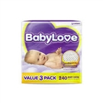 Babylove Wipes Value Pack 3 X 80 (240 Wipes)