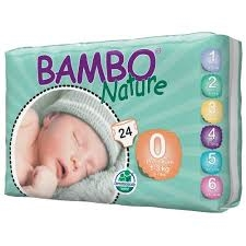 Bambo Nature Nappies Premature 1-3kg 24