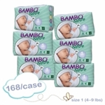 Bambo Nature Nappies Newborn 2-4kg MULTIBUY 168 ( 28x6)