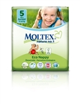 Moltex Nature n.1 eco nappies  5 Junior 11-25kg - 26 nappies