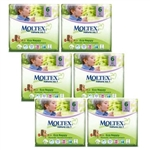 Moltex Nature n.1 eco nappies 6 XL 16-30kg  MULTIBUY 22x6 (132 nappies)