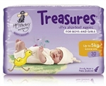 Bulk Treasures Nappies Newborn Unisex 30 nappies