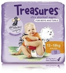Bulk Treasures Nappies Walker Unisex 18 nappies