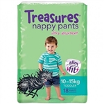 Treasures Nappy Pants Toddler Unisex 18 nappies