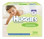 Huggies Baby Wipes Cucumber & Aloe Mega Pack ( 384 wipes)