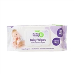 Baby U Baby Wipes Fragrance Free 80pk