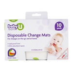 Baby U Disposable Change Mats - 10 Pack